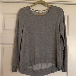 Anthropologie grey sweatshirt
